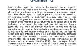 Evolucion de las TICs timeline