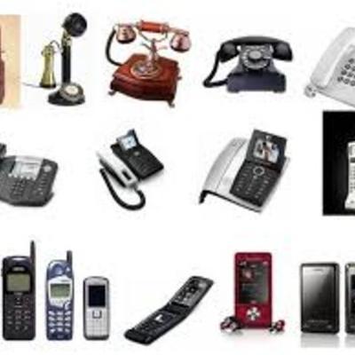 HISTORIA Y EVOLUCIÓN DEL TELÉFONO  timeline