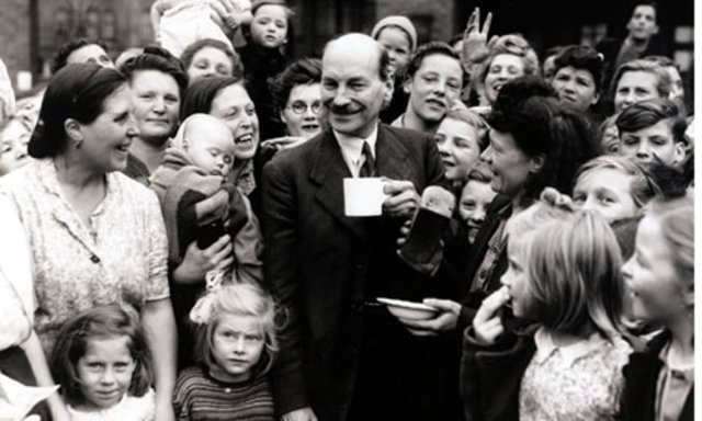 Clement Attlee's Labour Party wins the election