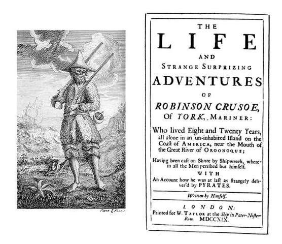 Robinson Crusoe, by Daniel Dafoe