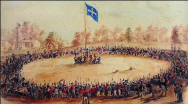1854- The Eureka Rebellion takes place.