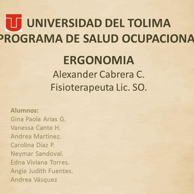 Linea de Tiempo de La Ergonomia timeline