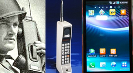 The Evolution of the Mobile Phone timeline