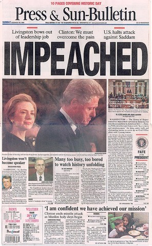 clinton impeachment trials William jefferson clinton constitutional provisions rules of procedure and practice in the sen-ate when sitting on impeachment trials articles of impeachment.