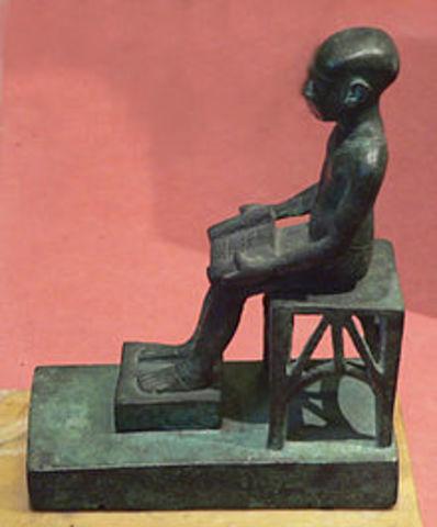 3150 A.C Nace el primer Ingeniero llamado Imhotep