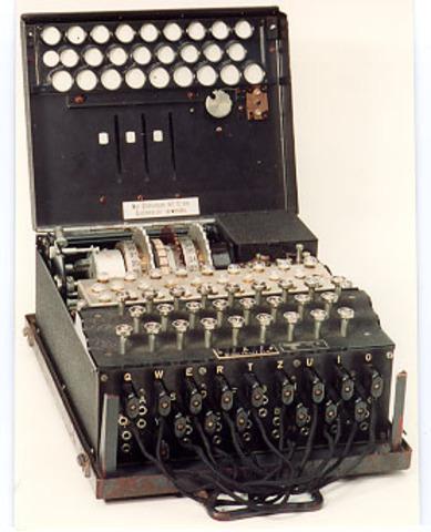 ENIGMA decipher machine used