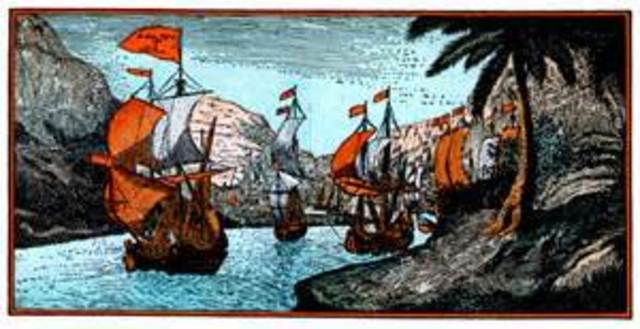 Llegada de Cortes a Veracruz