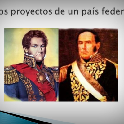 Dos proyectos para organizar un país Federal  (1829 - 1860) timeline