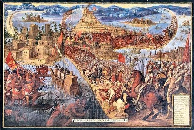 Cortés regresa con refuerzos e inicia el ataque a Tenoctitlan.