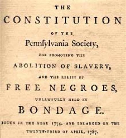 Slavery outlawed in Pennsylvania