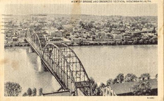 The first cable suspension bridge is made in Pittsburgh