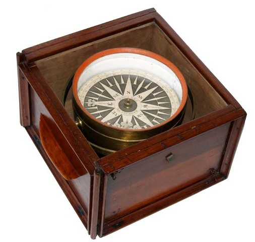Dry compass invented in Europe