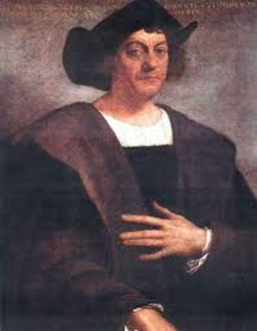 Christopher Columbus notes odd behavior of his compass during his voyage
