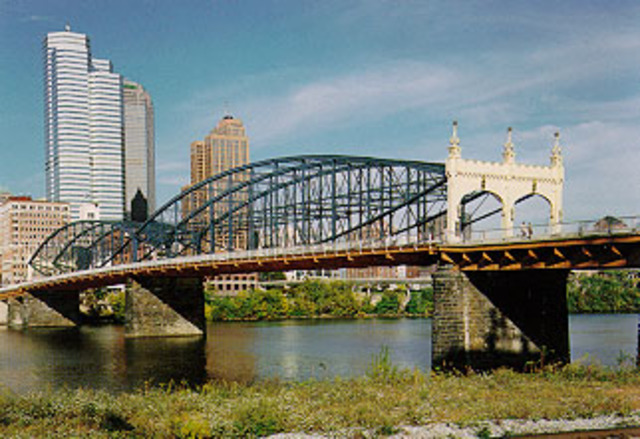 The Smithfield Street Bridge.