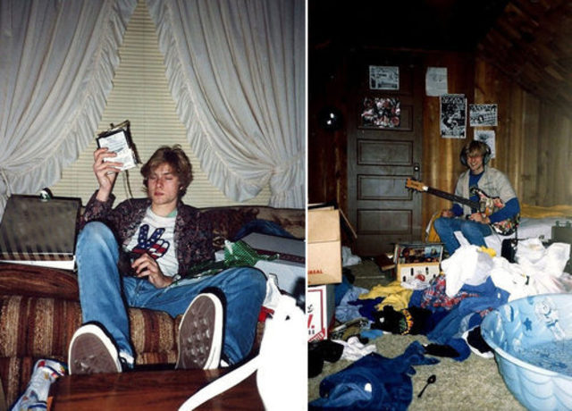 Cobain was more or less normal teenager, in many countries it's normal to party as hard as Cobain did as a youth