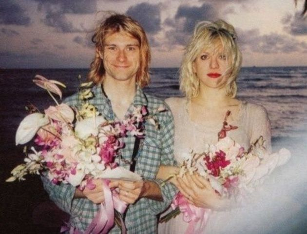 Cobain and Love get hitched on Hawaii - not entirely sober