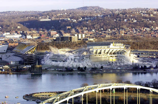 Three Rivers Stadium is closed