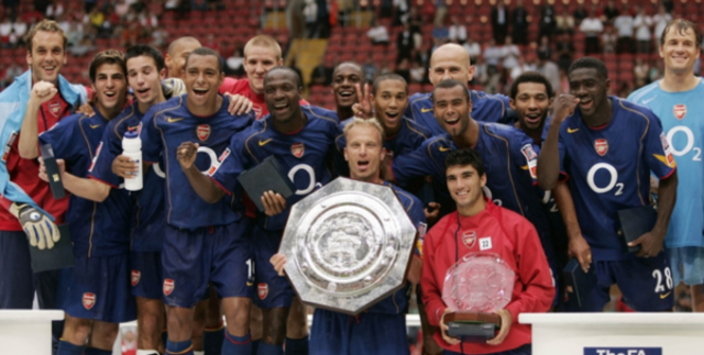 Arsenal clinches SHield title against LIverpool