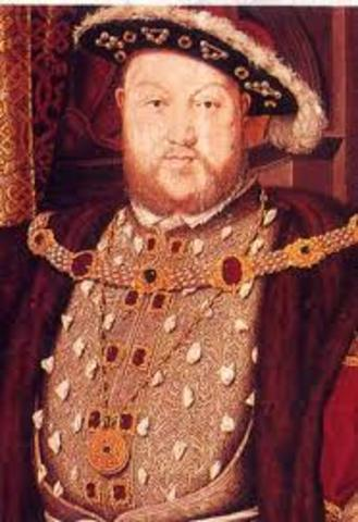 King Henry VIII broke from the Catholic Church and divorced his wife
