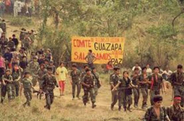 guerrilleros se concentran en las zonas de mayor elevación en nuestro país