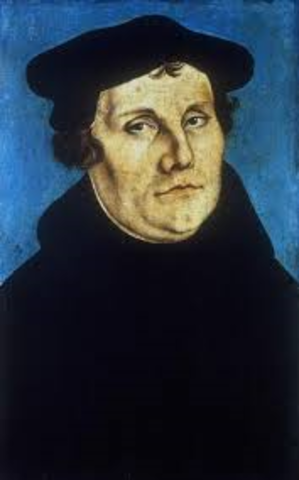 Martin Luther and his followers meet at the Lutheran Church