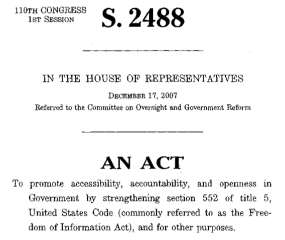 The History Of The Freedom Of Information Act Timeline
