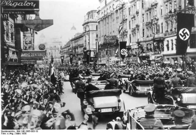 Germany occupies and then annexes Austria in the 'Anschluss'