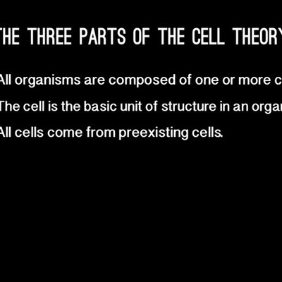 Lia's Cell Theory Timeline