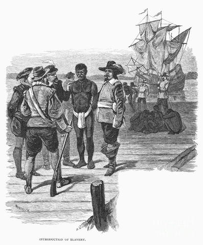 1st slaves brought to Jamestown