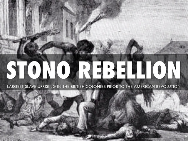 the role of africa in the stono rebellion of 1739 South carolina, 1739 on the single day of sunday, 9 september 1739 about fifty enslaved african americans, perhaps responding to the promise of freedom in spanish florida, stole weapons and killed about twenty white settlers as they 1739 stono rebellion in south carolina.