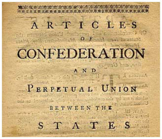 an introduction to the articles of confederation in the constitution of the united states of america When the thirteen colonies of north america broke away from great britain, they struggled to draft their first constitution after great debate, they created the articles of confederation.