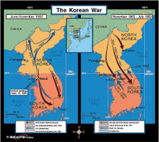 Korean and vietnam war timeline timetoast timelines korea divided korea divided after wwii gumiabroncs Images