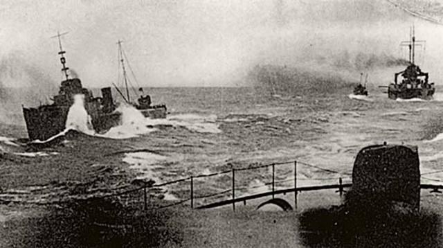 Bloqueo naval britanico.