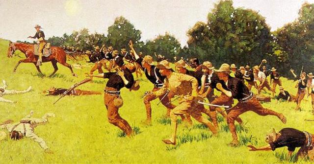 U.S.A. defeat Spain in the Spanish-American War