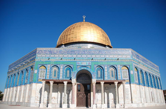 The Dome of the Rock Built