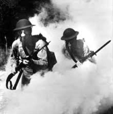 First use of poison gas (French)