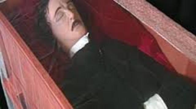 Edgar Allan Poe dies.