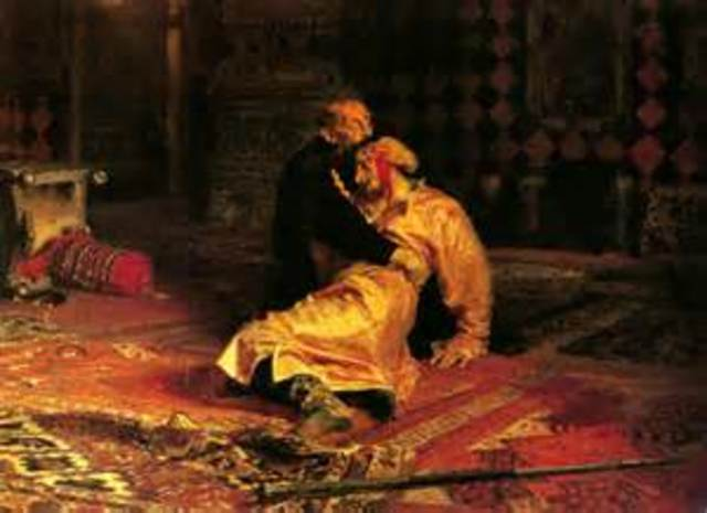 Killing Spree: In 1570 ivan the iv went on a rampage and killed 60,000 people in one year. He also killed his own son