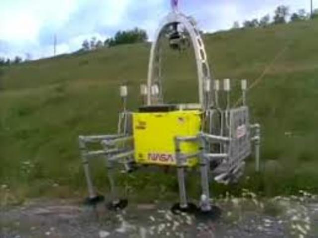 Dante an 8-legged walking robot developed at Carnegie Mellon University