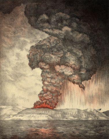 Krakatoa Volcano Collapse