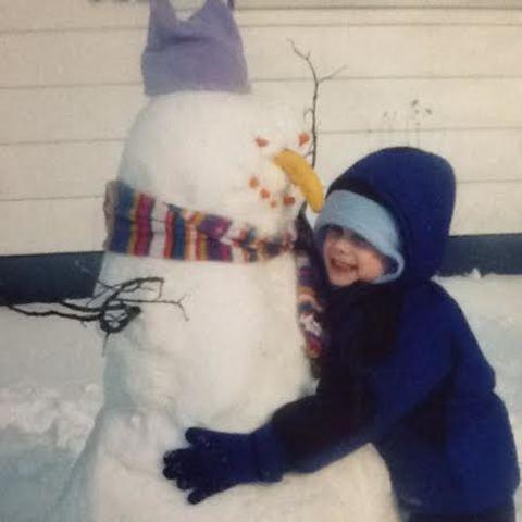 My first snowman! :D