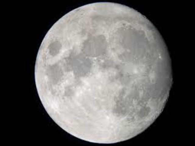 First spotting of the moon through a telescope by Galileo Galilei