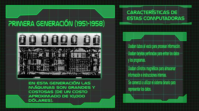 Generación 1 de computadoras