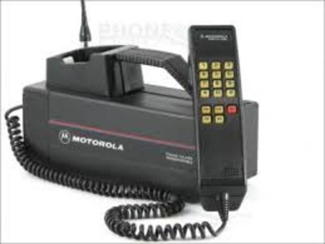 First cellular phone with network