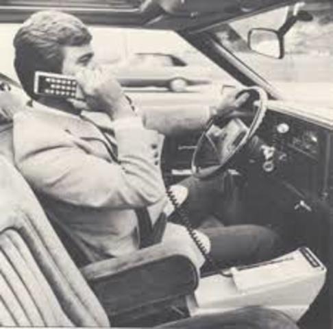 First telephone in car