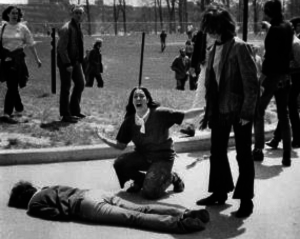 kent state shootings essay 13 seconds: a look back at the kent state shootings, philip caputo new york city, chamberlain press, 2005 caputo, the second pulitzer prize winner to examine kent state, wrote three new yorker-type essays which, tried to place the tragedy into a larger social and historical context.
