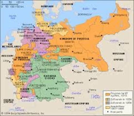 Map Of Zollverein Germany.German Unification Timeline Timetoast Timelines