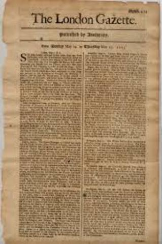 Newspaper are first published in London