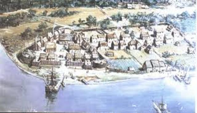 First permanent English sttlement in North America is estabished at Jamestown, Virginia.