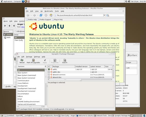 Se lanza Ubuntu 4.10 al mercado